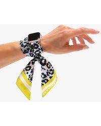Express Wristpop Jagger Apple Watch Scarf Band Silver 42mm/44mm - Metallic