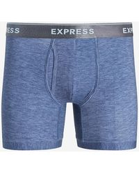 Express Blue Supersoft Boxer Briefs