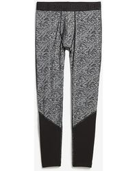 Express Patterned Thermal Wicking Running Tights Grey Xs - Gray