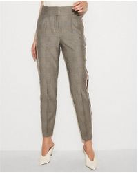 Express - High Waisted Side Stripe Ankle Pant - Lyst