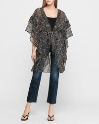 Express Floral Ruffle Cover-up - Multicolour