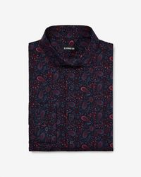 Express - Extra Slim Paisley Dress Shirt Pink - Lyst