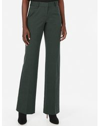 Express - Mid Rise Editor Trouser Pant Green - Lyst