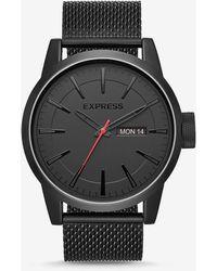 Express Empire Black Mesh Strap Muti-function Watch