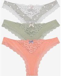Express Honeydew Intimates Set Of 3 Willow Thong Underwear Black Xl