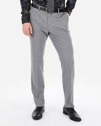 Express - Slim Stretch Wrinkle-resistant Dress Pants Gray W28 L30 - Lyst