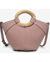 Express Urban Ions Zadar Faux Leather Satchel Pink