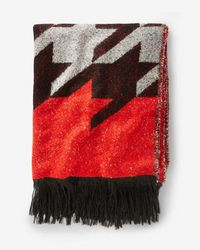 Express - Houndstooth Blanket Scarf - Lyst