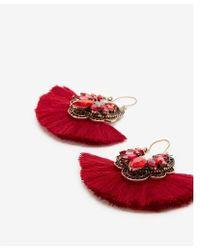 Express - Embellished Ornate Tassel Drop Earrings - Lyst