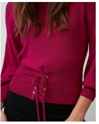 Express - Corset Puff Sleeve Jumper - Lyst