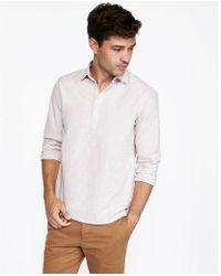 Express - Slim Striped Popover Shirt - Lyst