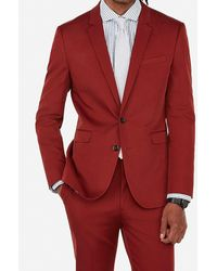 Express - Big & Tall Extra Slim Red Cotton Blend Suit Jacket Red - Lyst