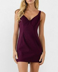 Express Endless Rose Fitted Mini Dress Red L
