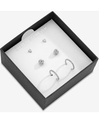 Express Sterling Forever Boxed Earring Set Silver - Metallic