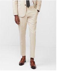 Express - Slim Khaki Performance Stretch Wool-linen Blend Suit Pant - Lyst