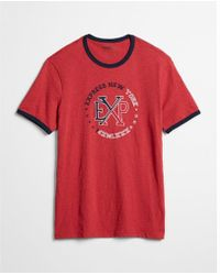 Express - Logo Cotton Graphic Tee - Lyst