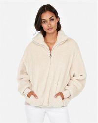Express - One Eleven Fleece Quarter-zip Sweatshirt - Lyst