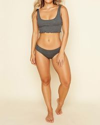 Express Dippin Daisy's Move Along Panty Charcoal - Multicolour
