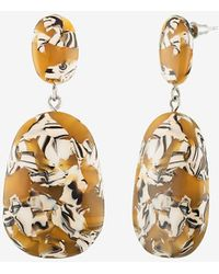 Express Machete Grande Drop Earrings Orange