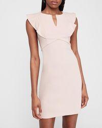 Express Ruffle Sleeve Dress Truffle Pink