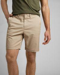 "Express Solid 8"" Temp Control Hyper Stretch Shorts Neutral 36 - Natural"