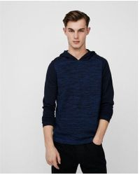 Express - Color Block Tech Hooded Sweater - Lyst