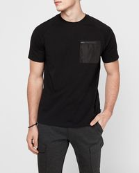 Express Crew Neck Pocket Moisture-wicking Performance T-shirt Black Xs