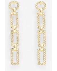 Express Luv Aj Chain Link Stud Earrings Gold - Metallic