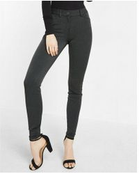 Express - Mid Rise Stretch+ Performance Twill Leggings - Lyst