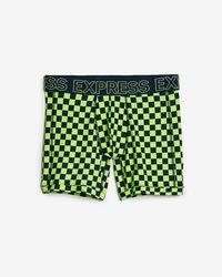 Express - Check Print Performance Boxer Briefs - Lyst
