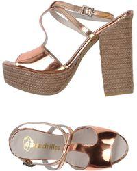 Espadrilles heels sandal heels - Lyst