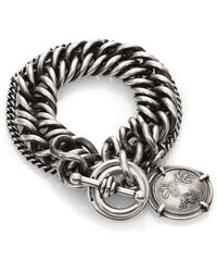 Ann Demeulemeester Sterling Silver Medallion Chain Bracelet silver - Lyst