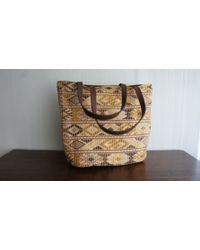 Ix Style Reversible Mayan Brown Leather Bag - Lyst