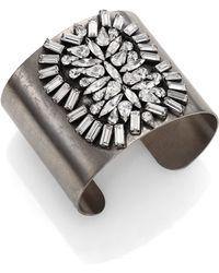 DANNIJO Cammy Crystal Cuff Bracelet - Lyst