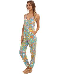Trina Turk Cosmos Cover Up Jumpsuit - Lyst