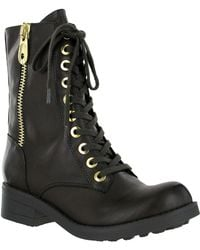 MIA - Fredrica Mid Shaft Lace Up Boots - Lyst
