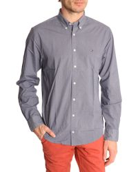 Tommy Hilfiger Blue Micro Dot Button-Down Shirt With Flag - Lyst