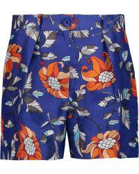 Ostwald Helgason | Printed Silk-twill Shorts | Lyst