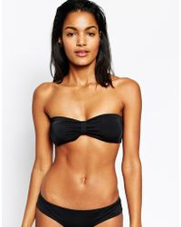 Asos Mix And Match Tab Front Bandeau Bikini Top - Lyst