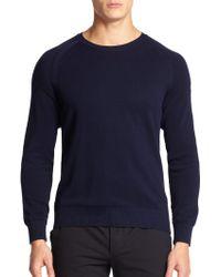 Moncler Raglan-Sleeve Crewneck Sweater - Lyst