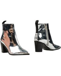 Acne Studios Ankle Boots - Metallic
