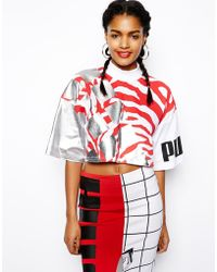Asos Puma For Printed Crop Tshirt - Lyst