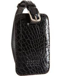 Barneys New York - Crocodile Luggage Tag - Lyst