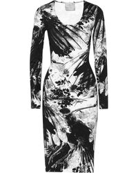 Preen Avery Floral-print Stretch-jersey Dress - Lyst