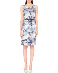 Hugo Boss Floral-Print Stretch-Cotton Dress - For Women - Lyst