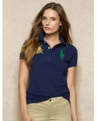 Ralph Lauren Blue Label Embroidered Big Pony Polo - Lyst