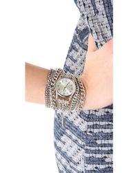 Sara Designs - All Chain Wrap Watch - Silver - Lyst