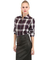 American Retro Doris Checked Cotton Shirt - Lyst