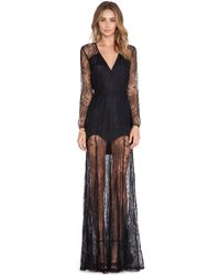 Mason by Michelle Mason Lace Gown - Lyst