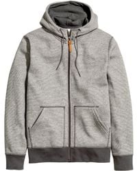 H&M Gray Hooded Jacket - Lyst